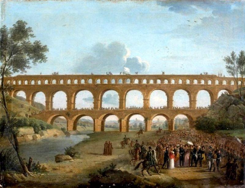Le Pont du Gard dans tous ses états - La duchesse d'Angoulême à Nîmes Zzzr10