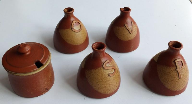 ID on 5 piece thrown stoneware condiments set 5_piec11