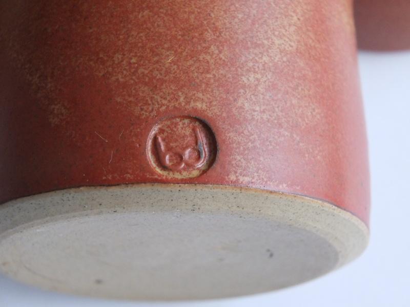 ID on 5 piece thrown stoneware condiments set Dscf1810