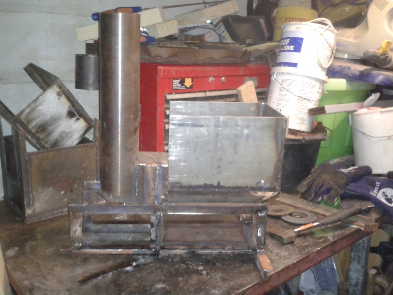 new rocket stove build 20151112