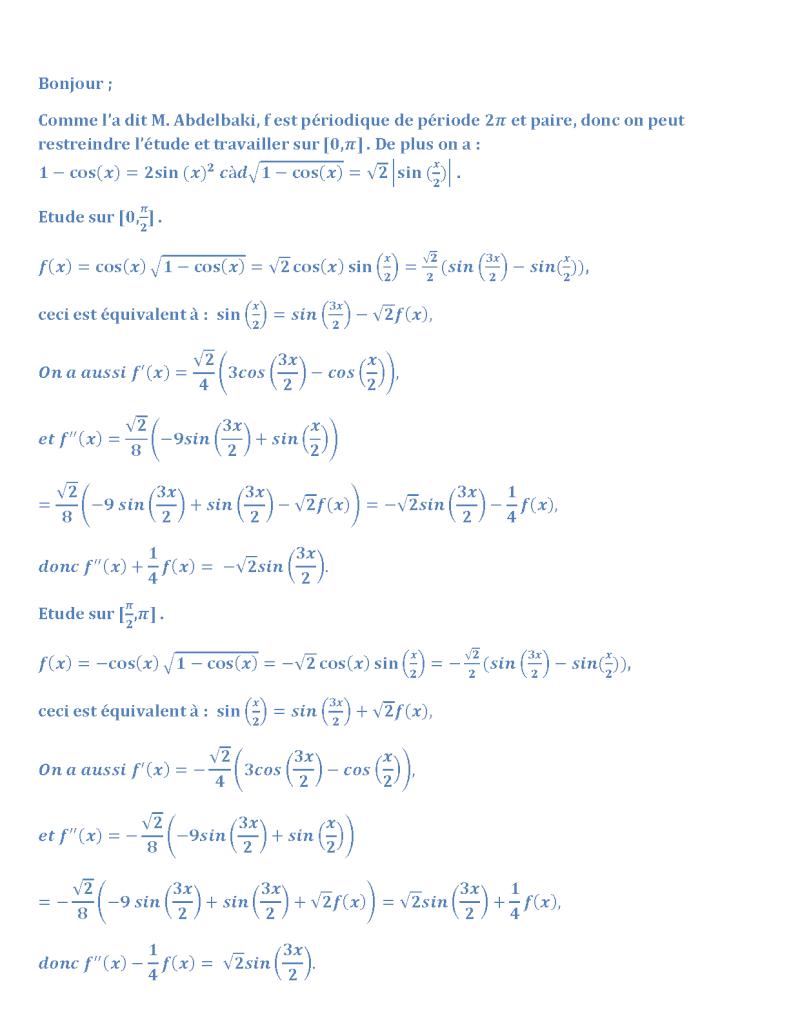 calcul f'(x) en fonction de f(x) Dyrivy10