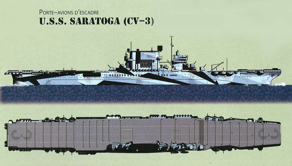 Saratoga tamiya 1/700 PE+Pont en bois par lionel45 - Page 2 Uss_sa10