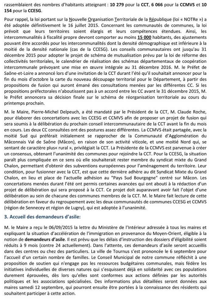 Compte rendu du Conseil Municipal de La Chapelle-sous-Brancion Date : 07septembre 2015 2_copi11
