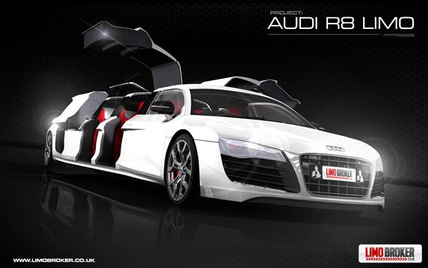 la R8 Limo Audi-r12