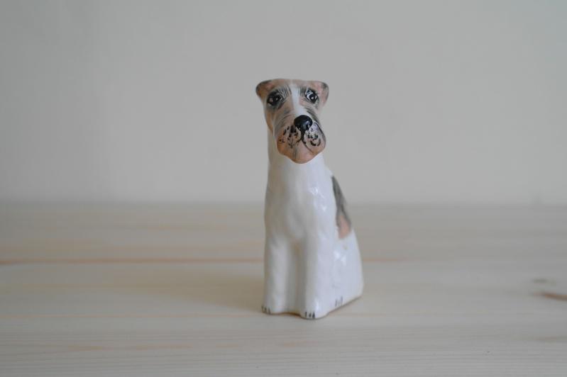 Dog Ornament Marked LH Sam_0411