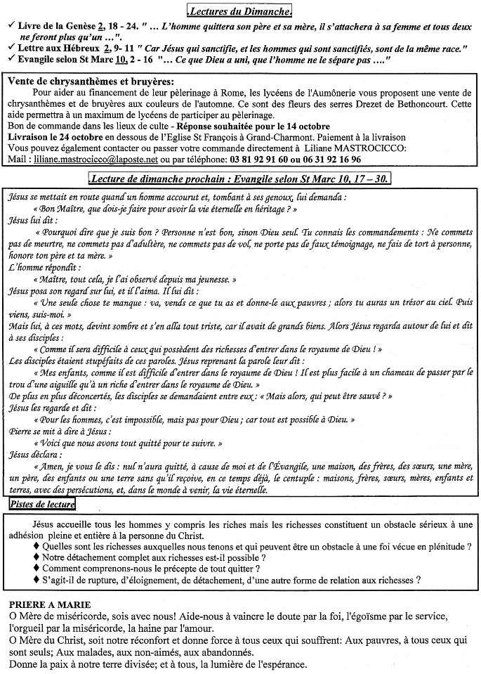 Trait d'Union du 4 octobre 2015 Tu151011