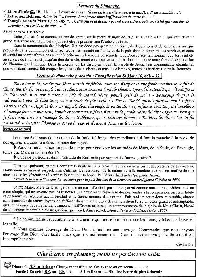 Trait d'Union du 18 octobre 2015 Tu151016