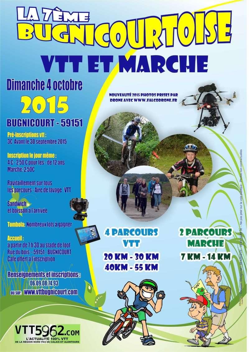 Rando VTT et marche – 7 éme Bugnicourtoise (59) dimanche 4 octobre 2015 Affich10