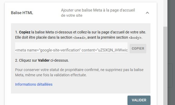 Propriété non validé search console Sans_t17