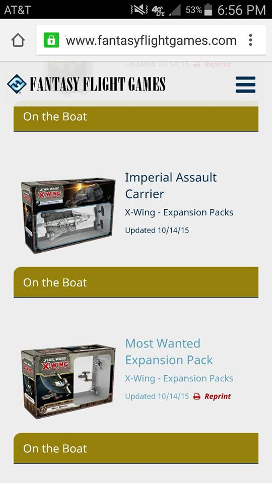[Epic] IMPERIAL ASSAULT CARRIER - NEWS !!! ONLY !!! 12144910