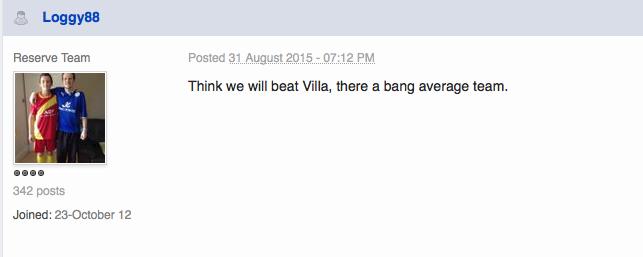 Villa v Leicester  13th September 2015 : match thread Screen13