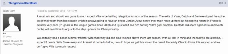 Villa v Leicester  13th September 2015 : match thread Screen15