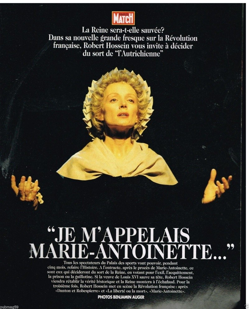 """""""Je m'appelais Marie Antoinette"""" (Robert Hossein) _5720"""