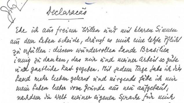 Mise en vente de la Correspondance de Stefan Zweig avec son traducteur Alzir Hella Zweig-10