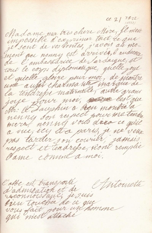 Correspondance entre Marie-Antoinette et sa mère  Zzz12