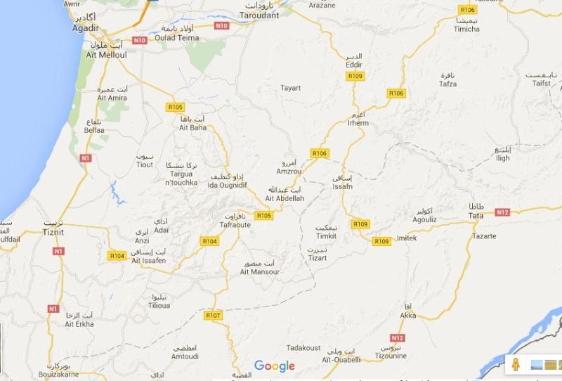carte - carte map Souss ait tata tafraoute  Tata_a10