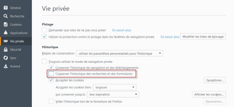 Empêcher Firefox de conserver les saisies des formulaires 12-11-17