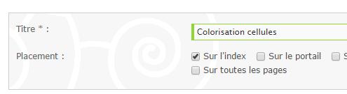 Coloriser les cellules sur l'index lorsqu'un nouveau message est posté 29-09-18