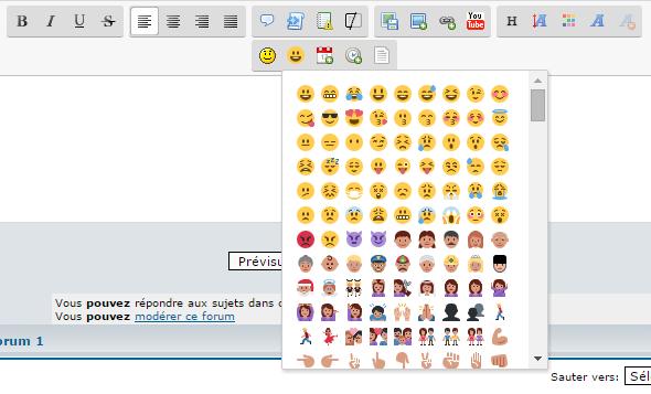 Ajouter les emojis Twitter à l'éditeur Twitte11