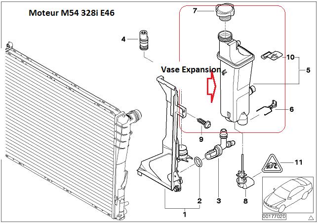 [ bmw e46 328i an 1998 ] vase d'expansion fissuré 17_vas10