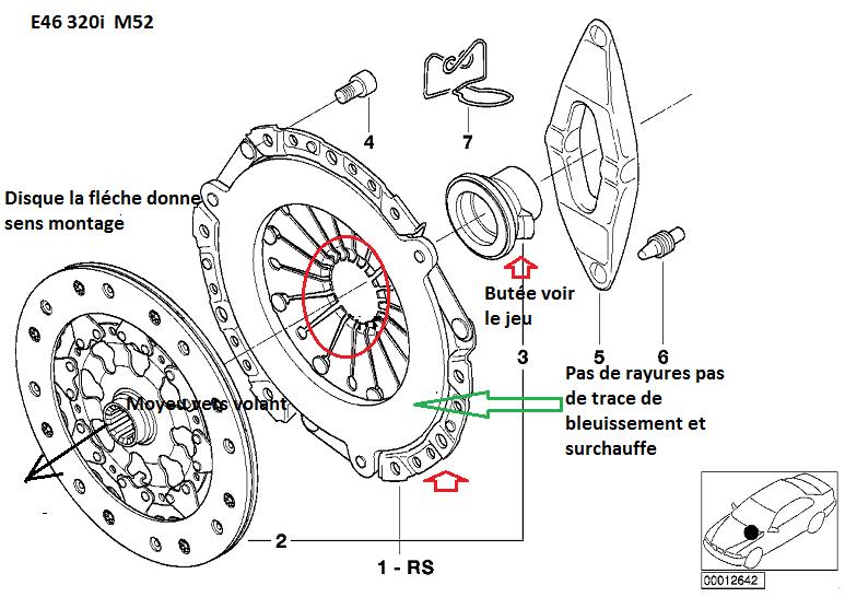 [ Bmw e46 320i M52 an 1999 ] disque d'embrayage (résolu) 21_e4610