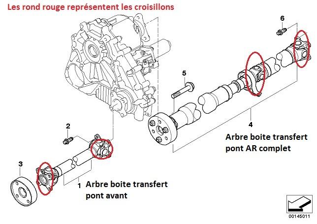 [ Bmw E83 X3 LCI Bva 2.5 SI an 2010 ] Problème croisillon arbre de transmission 26_arb10