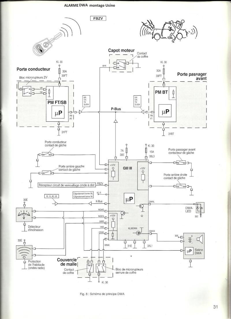 [ BMW e36 328i an 1999 ] Problème alarme DWA sirène branchement 65_ala11