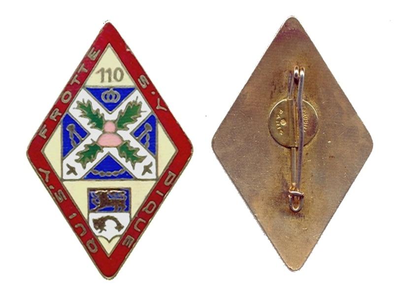 enfin l insigne de mon regiment 110 RI 1939_h10
