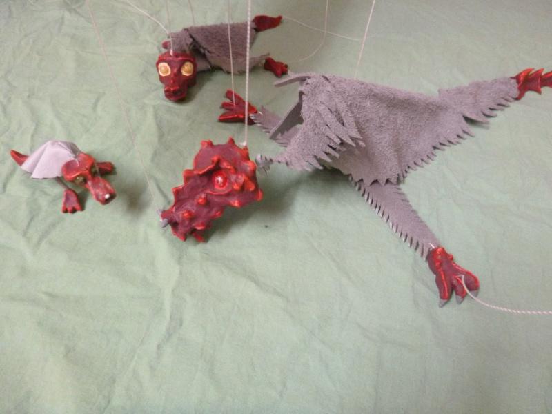 Marionette: Drachen mit Nachwuchs P1010212