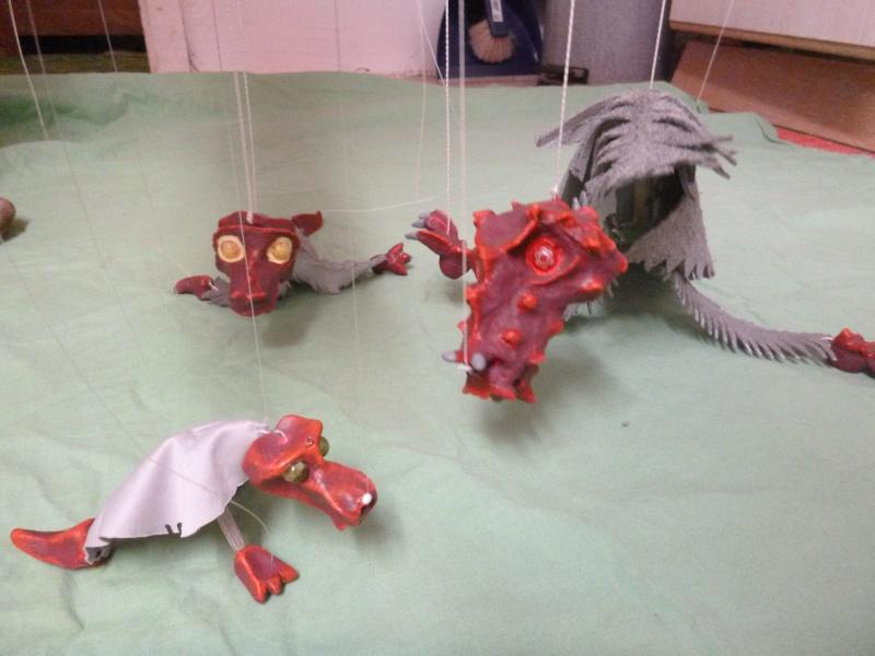 Marionette: Drachen mit Nachwuchs P1010213
