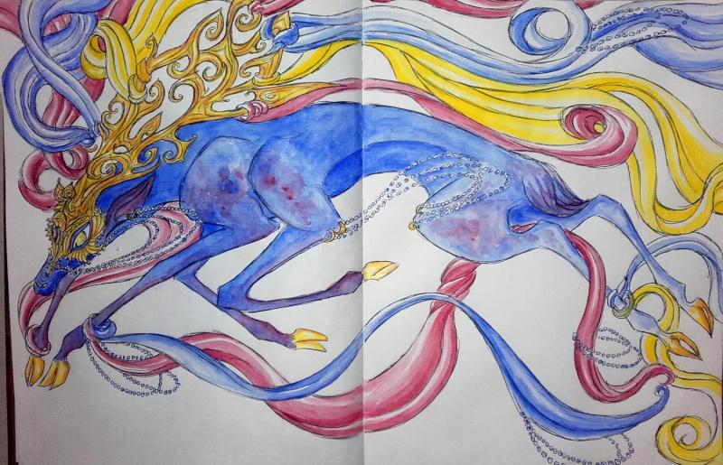 Dragons, chimères et créatures arc-en-ciel - Page 8 Corned10