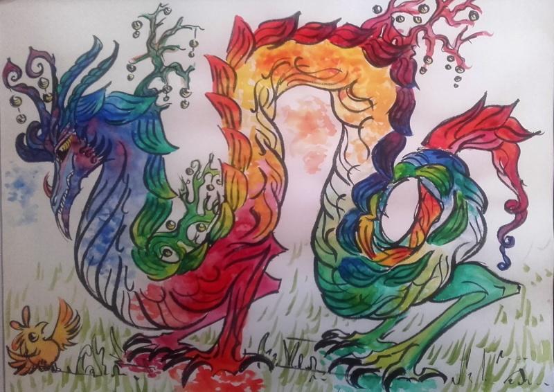Dragons, chimères et créatures arc-en-ciel - Page 8 Dragon10