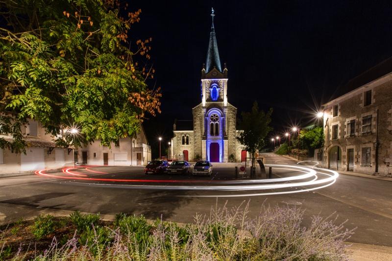 Mise en lumière de l'église de Bué 15092115