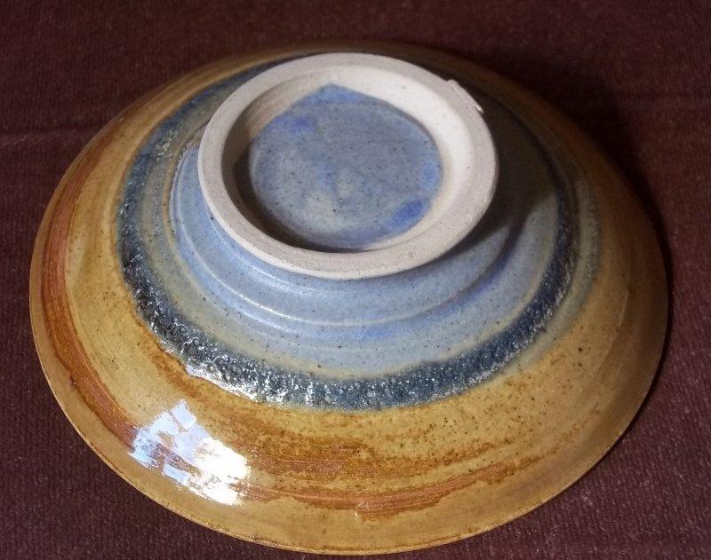 Stoneware dish with lava glaze 100_2648