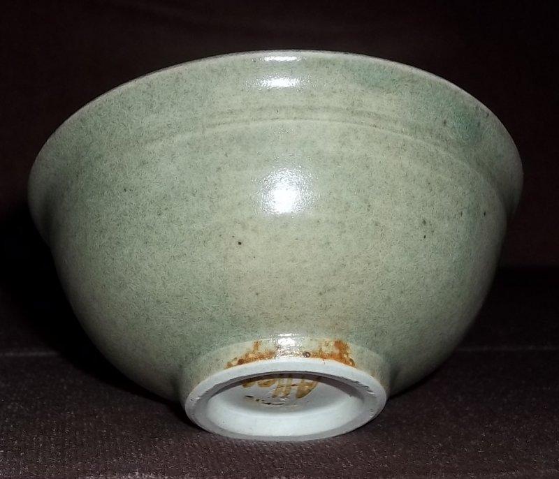 Stoneware tea bowl signed Ron Allen  100_2717