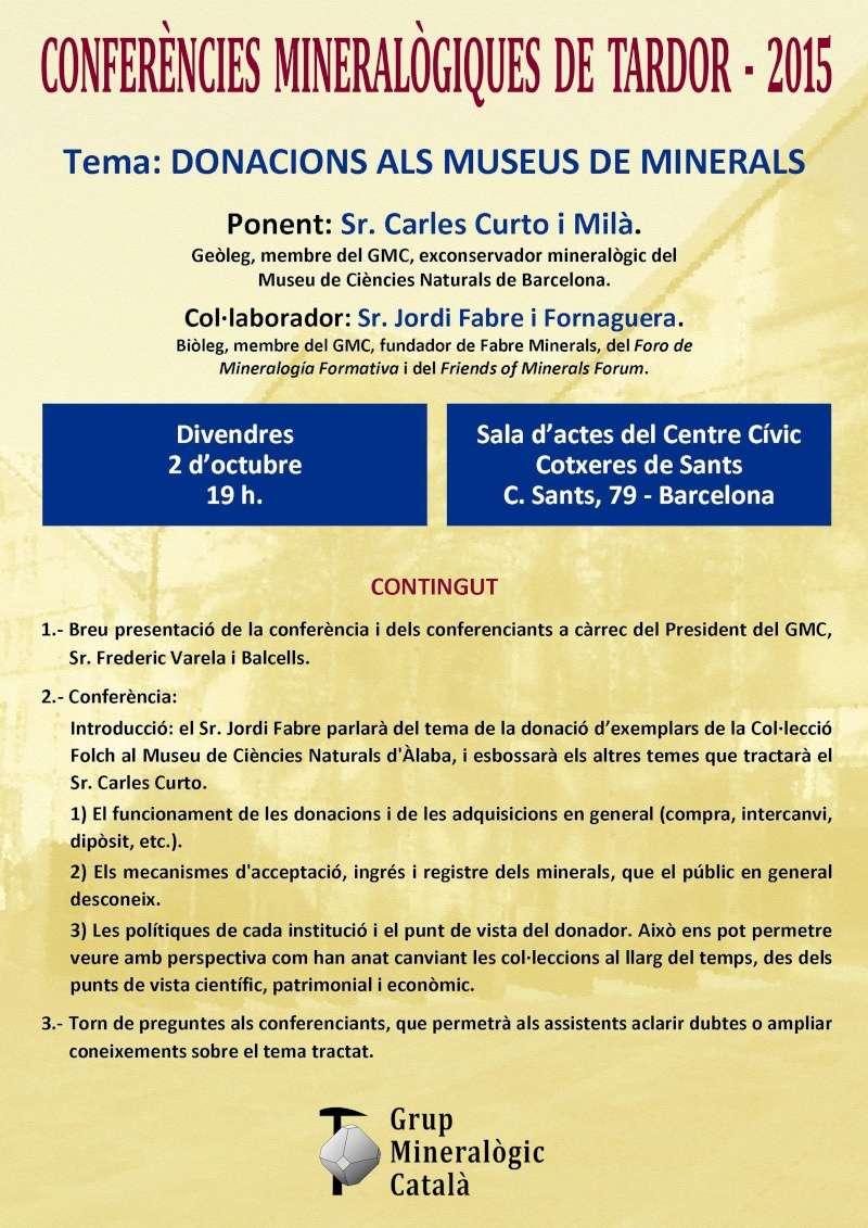 Conferències Mineralògiques de Tardor Cartel10