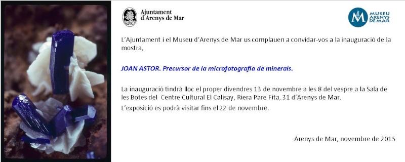 Mostra Joan Astor a Arenys de Mar Invita10