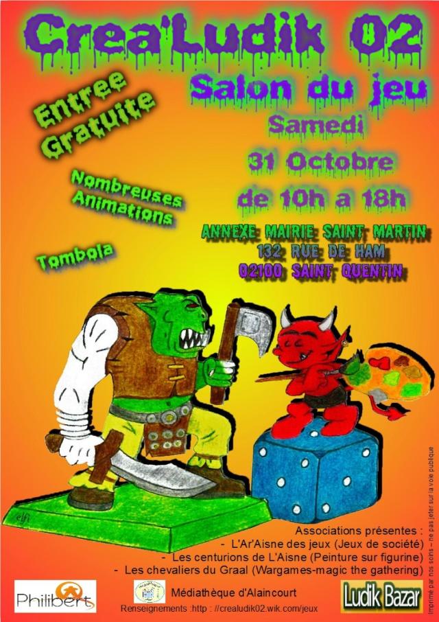 Créa'Ludik 02 : Salon du jeu de Saint-Quentin 2015 Affich10