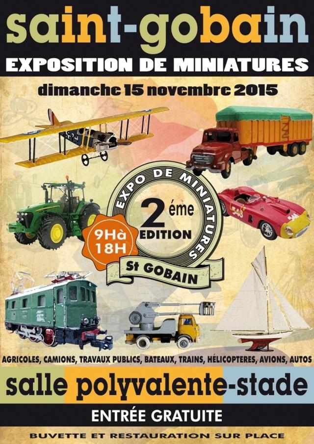 EXPOSITION DE MINIATURES à Saint-Gobain Affich13