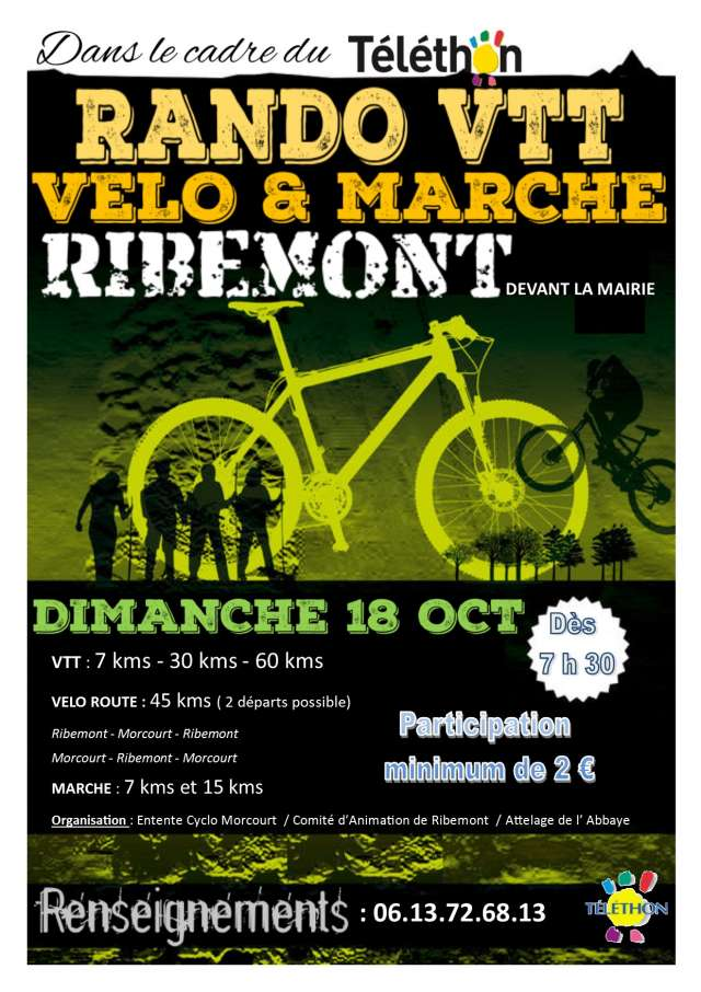 Rando du téléthon a Ribemont 18/10/2015 Vtt_te10