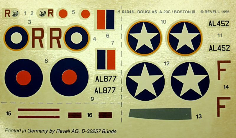 Ouvre-boîte Douglas A-20 C / Boston III [Revell 1/72] A20c-016