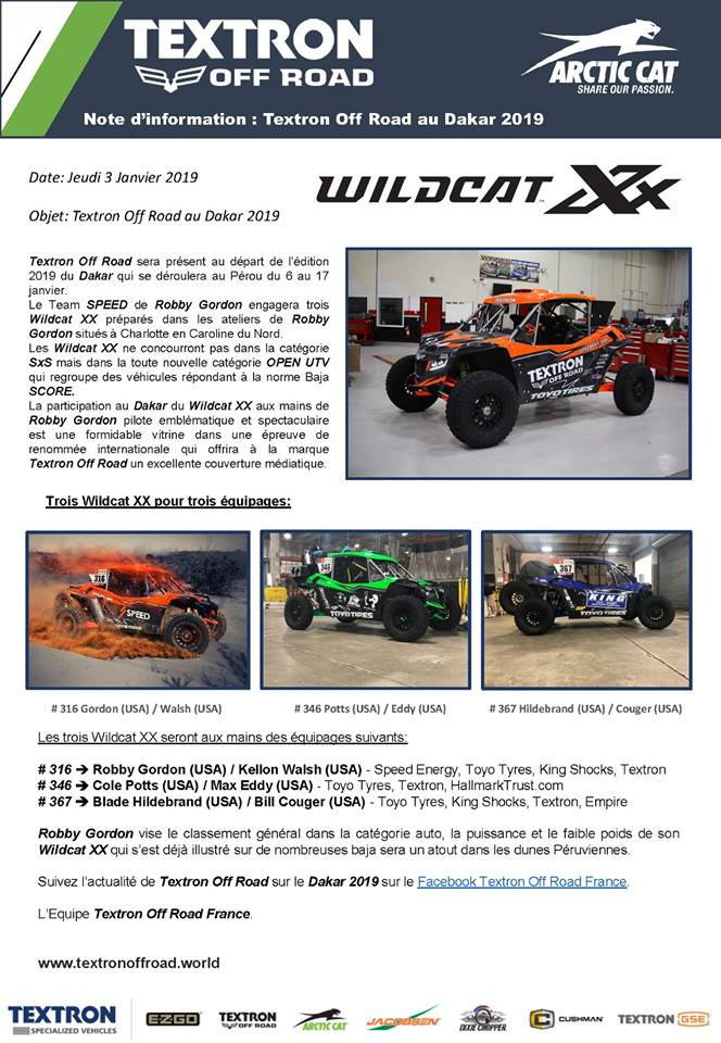 Nouveautés SSV 2019: Honda Talon 1000, Textron XX, Can Am Maverick Sport ... 49609810