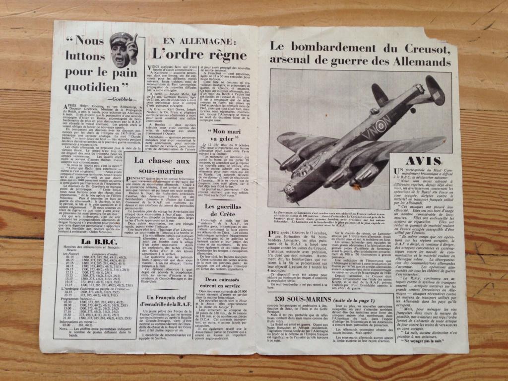 Lot de tracts d'information britanniques distribués par la RAF 1942 ! 212