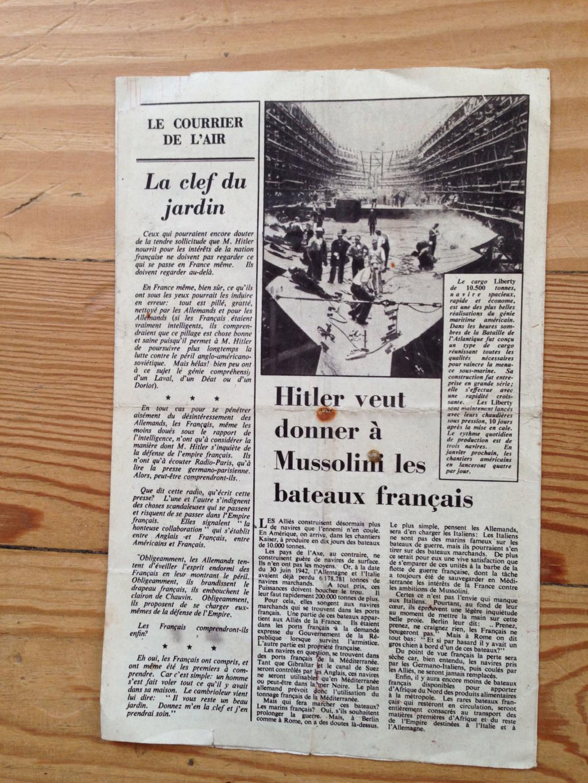 Lot de tracts d'information britanniques distribués par la RAF 1942 ! 311