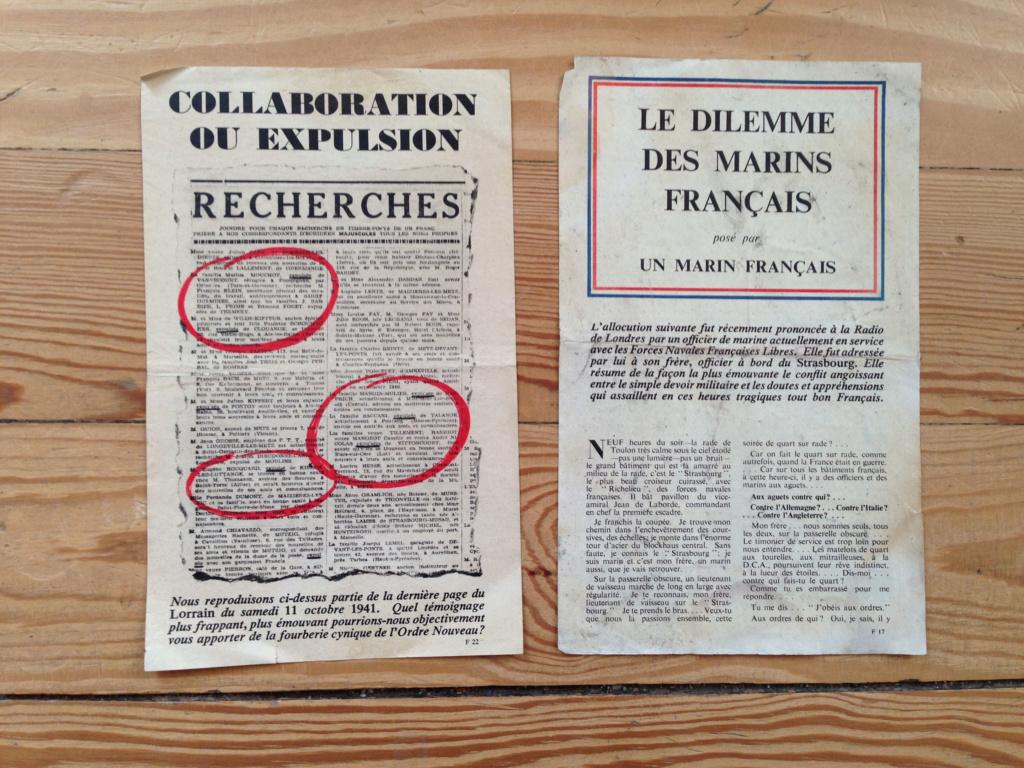 Lot de tracts d'information britanniques distribués par la RAF 1942_estimation  5a11
