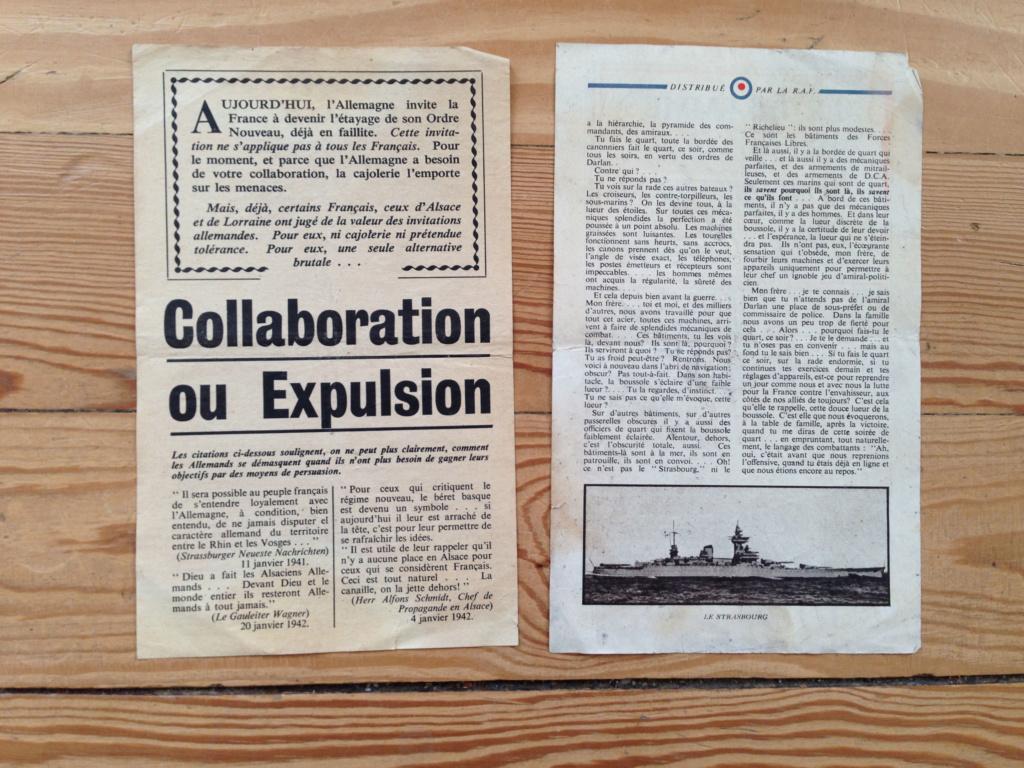 Lot de tracts d'information britanniques distribués par la RAF 1942 ! 5b10