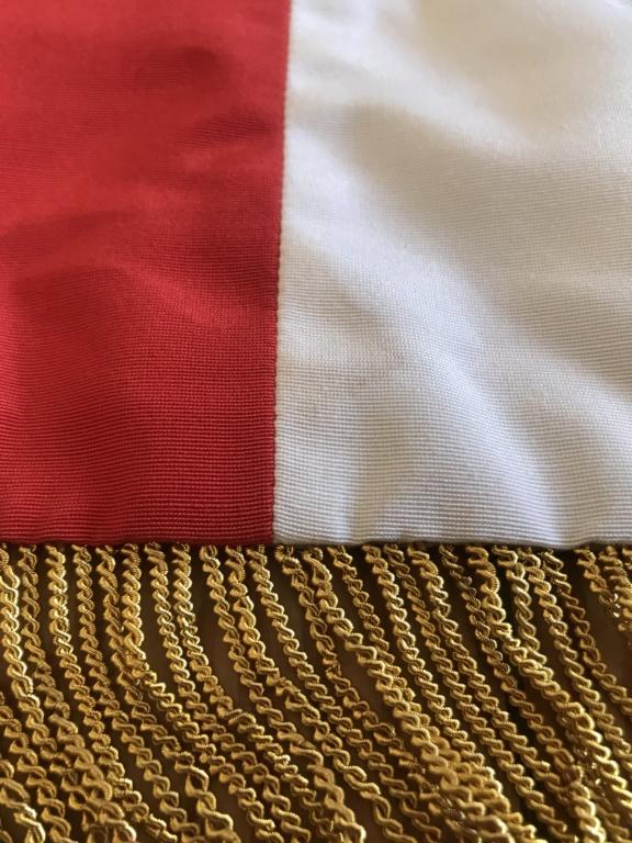 Drapeau / étendard tricolore brodé : Anciens combattants d'Afrique du Nord (AFN) 6c9c0010