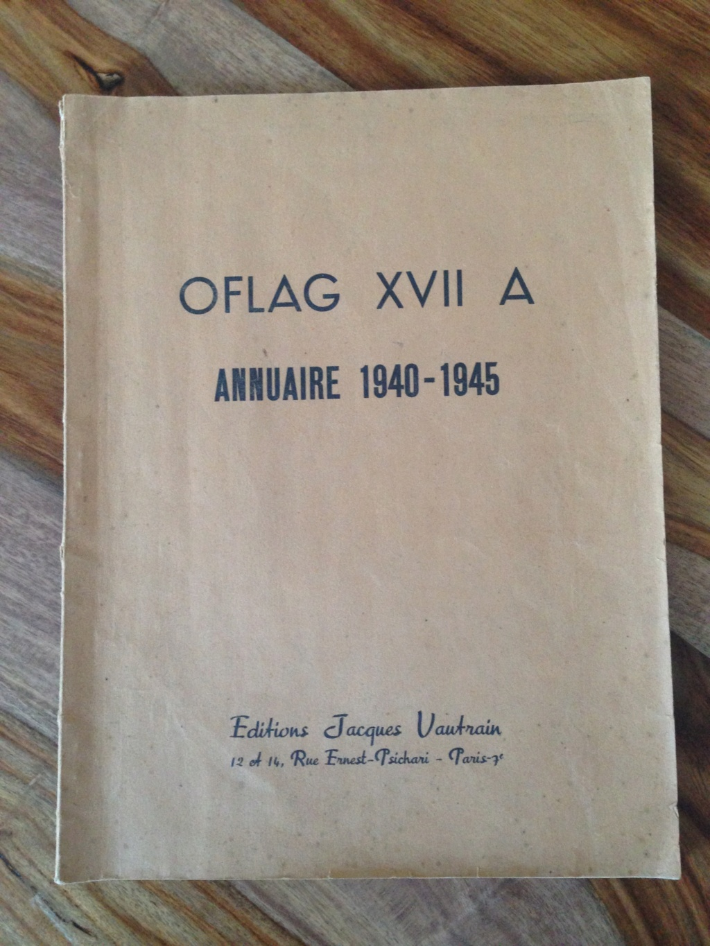 annuaire 1940-1945 OFLAG XVII A (complet, pour estimation) Img_7112