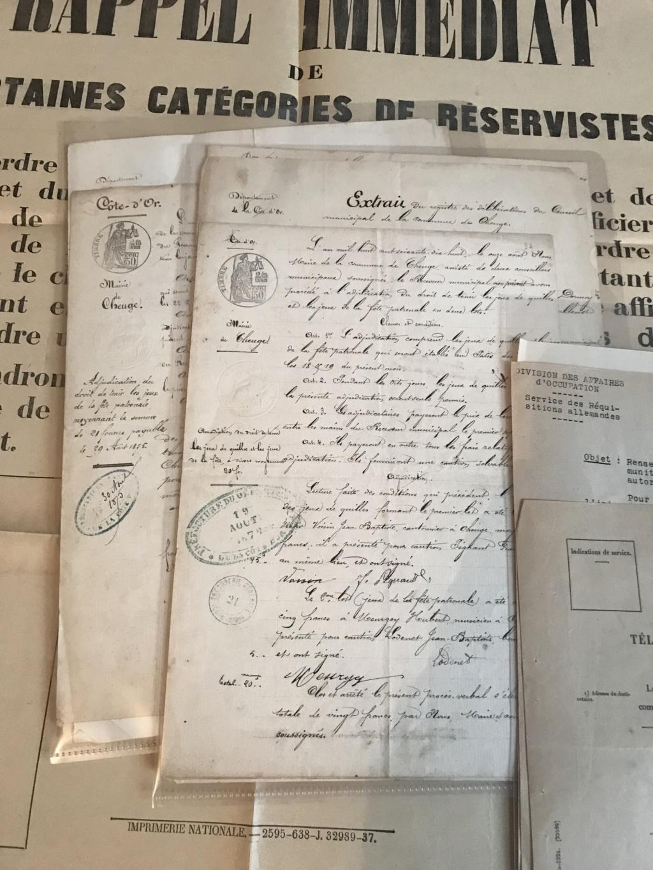 Rentrées récentes avec un lot de papier de Mairie 1814-1945 + ceinturon NSDAP Img_7619