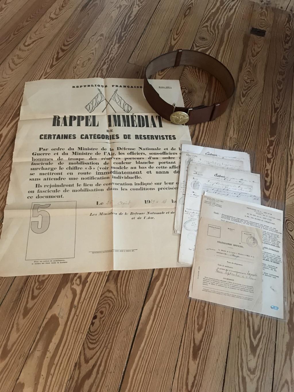 Rentrées récentes avec un lot de papier de Mairie 1814-1945 + ceinturon NSDAP Img_7621